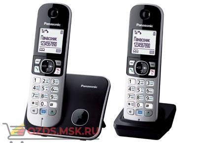 Panasonic KX-TG6812RUB-, цвет черный: Беспроводной телефон DECT (радиотелефон)