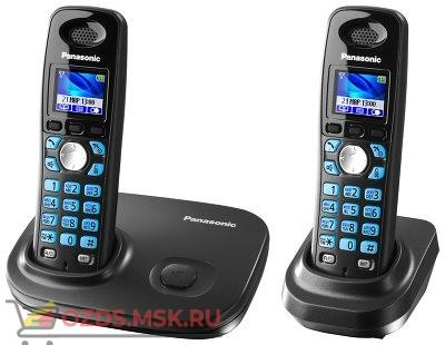 KX-TG8012RUT-, цвет темно-серый металлик: Беспроводной телефон Panasonic DECT (радиотелефон)