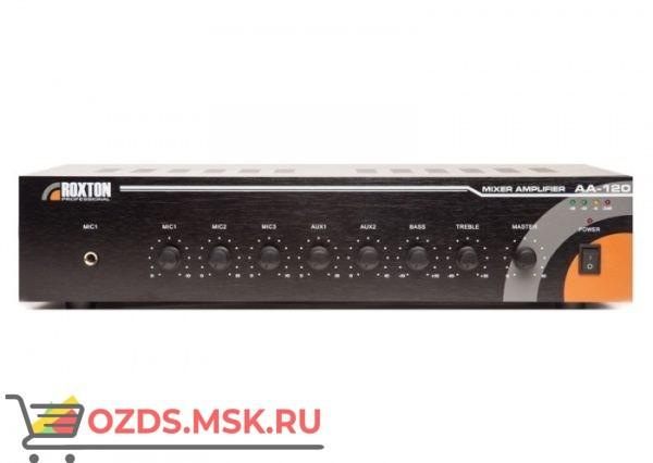 Roxton AA-120 Усилитель трансляционный 120 Вт, 3 микрофонных и 2 линейных входа, настольный