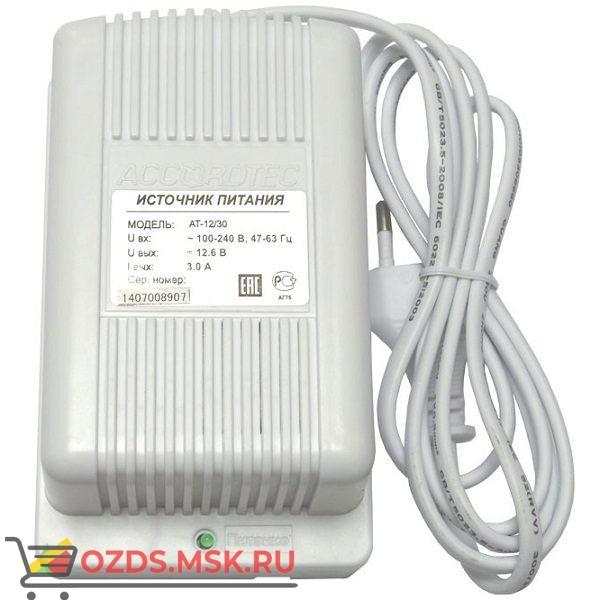 AccordTec AT-1230 Блок питания 12V, 3A белый