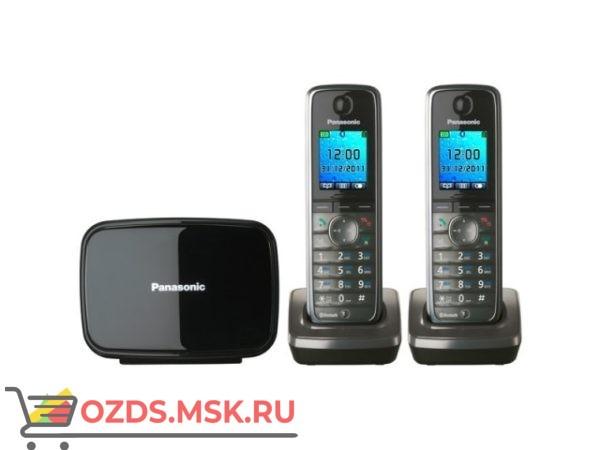 Panasonic KX-TG8612RUM-, цвет серый металлик: Беспроводной телефон DECT (радиотелефон)