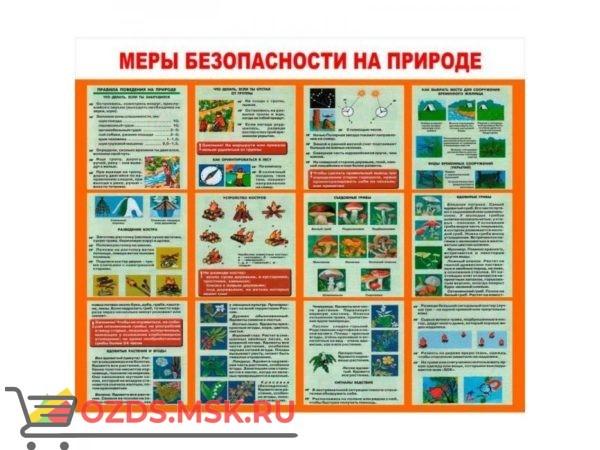 Меры безопасности на природе: Плакат по безопасности