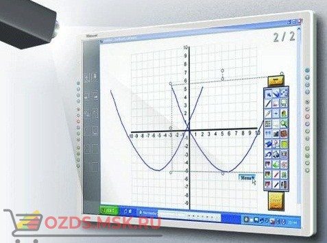 Интерактивная доска 100 IQBoard PS S100, резисторная технология, USB RS232