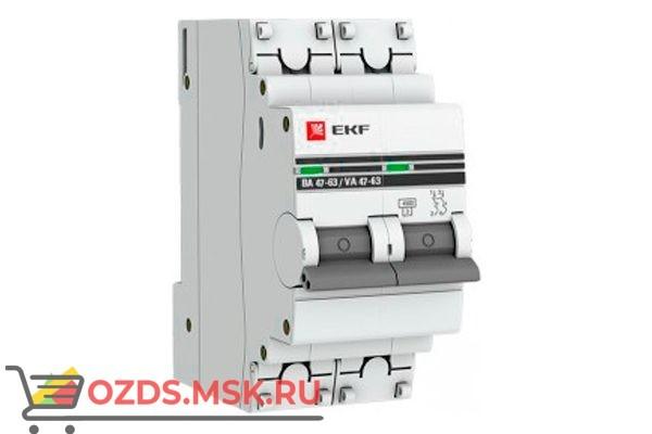 ЭКФ PROxima mcb4763-2-40C-pro Выкл.автомат. ВА 47-63 2P  40А (C) 4,5кА