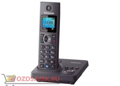 Panasonic KX-TG7861RUH-с автоответчиком, цвет серый: Беспроводной телефон DECT (радиотелефон)