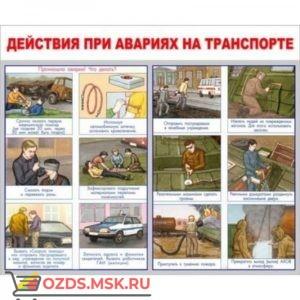 Действия при аварии на транспорте: Плакат по безопасности