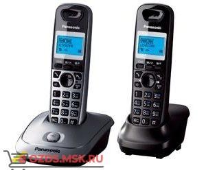 Panasonic KX-TG2512RU1, цвет серый металликчерный: Беспроводной телефон DECT (радиотелефон)
