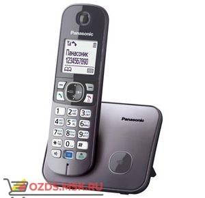 Panasonic KX-TG6811RUM-, цвет серый металлик: Беспроводной телефон DECT (радиотелефон)