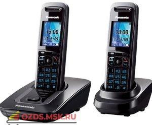 Panasonic KX-TG8412RUT — , цвет темно-серый металлик: Беспроводной телефон DECT (радиотелефон)