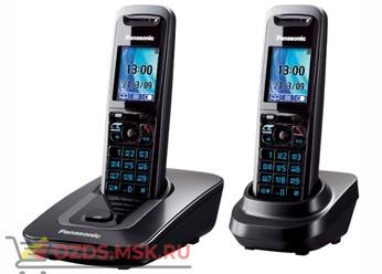 Panasonic KX-TG8412RUT - Беспроводной телефон DECT (радиотелефон) , цвет темно-серый металлик