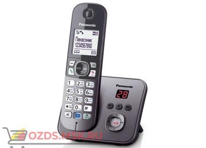 Panasonic KX-TG6821RUM-с автоответчиком, цвет серый мета: Беспроводной телефон DECT (радиотелефон)