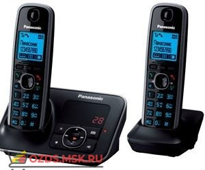 Panasonic KX-TG6622RUB-с автоответчиком, цвет черный: Беспроводной телефон DECT (радиотелефон)
