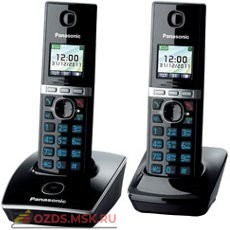 Panasonic KX-TG8052RUB-, цвет черный: Беспроводной телефон DECT (радиотелефон)