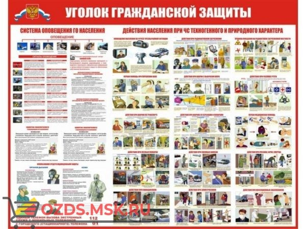 Организация и мероприятия гражданской обороны: Комплект из 7 плакатов