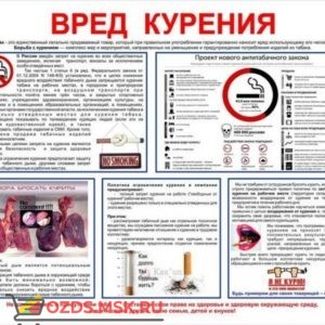 Вред курения: Плакат по безопасности