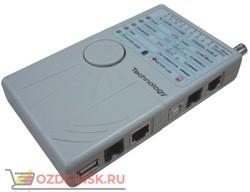 Кабельный тестер WT-4041, RJ11, RJ12, RJ45 (STPUTP), USB, коаксиальный кабель.