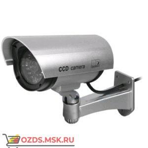 CCD camera серебро: Фальш-камера цилиндрическая (муляж уличной видеокамеры)
