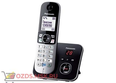 Panasonic KX-TG6821RUB - Беспроводной телефон DECT (радиотелефон) с автоответчиком, цвет черный