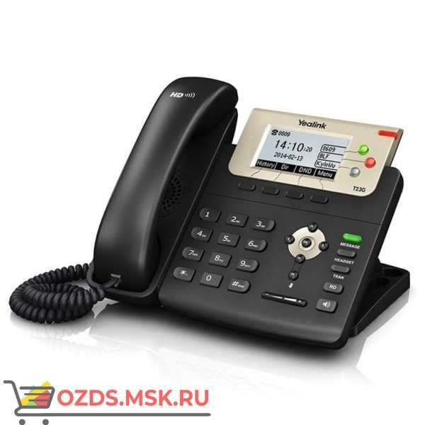 Yealink SIP-T23G / IP телефон Yealink SIP-T23G-стоимость, где купить, характеристики и описание функций: IP-телефон