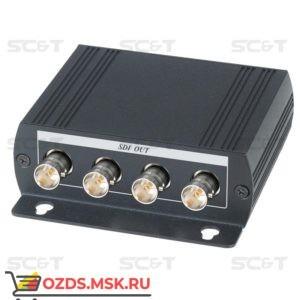 SC&T SDI04DE: Разветвитель 3G/HD-SDI