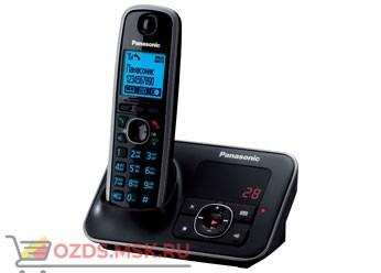 Panasonic KX-TG6621RUB - Беспроводной телефон DECT (радиотелефон) с автоответчиком, цвет черный