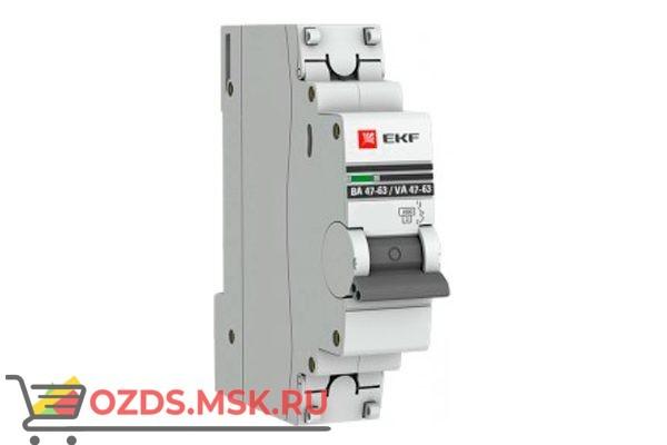 ЭКФ PROxima mcb4763-1-25D-pro Выкл.автомат. ВА 47-63 1P 25А (D) 4,5кА
