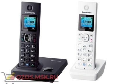 Panasonic KX-TG7852RU1 - Беспроводной телефон DECT (радиотелефон) , цвет черныйбелый