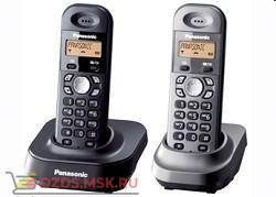 Panasonic KX-TG1412RU1-, цвет черныйсерый металлик: Беспроводной телефон DECT (радиотелефон)