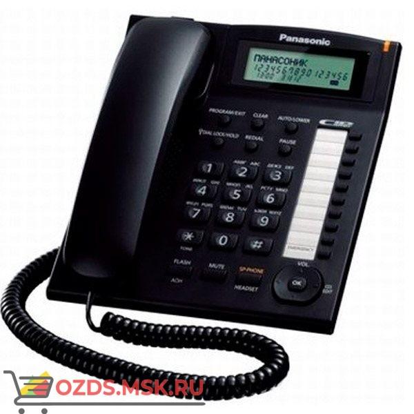 Panasonic KX-TS2388RUB проводной телефон, цвет черный: Проводной телефон