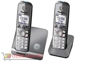 Panasonic KX-TG6712RUM-, цвет серый металлик: Беспроводной телефон DECT (радиотелефон)