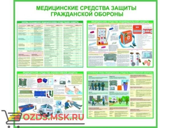 Медицинские средства гражданской обороны: Комплект из 4 плакатов