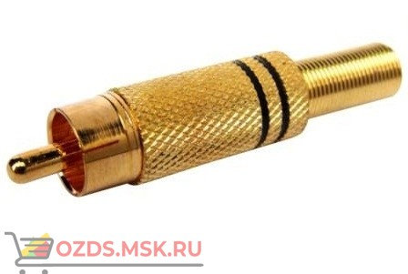 RCA-R разъём (тюльпан под винт, желтый) с пружиной