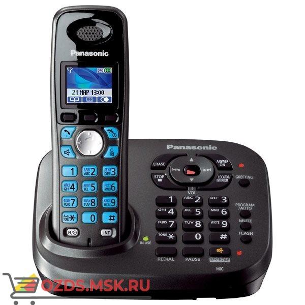 Panasonic KX-TG8041RUT - Беспроводной телефон DECT (радиотелефон) с автоответчиком, цвет темно-серы