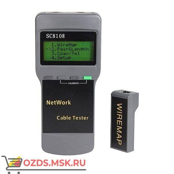 Кабельный LAN тестер SC8108 с измерением длины