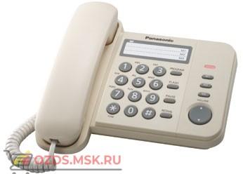 Panasonic KX-TS2352RUJ проводной телефон, цвет бежевый: Проводной телефон