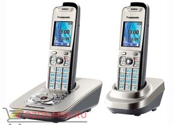 Panasonic KX-TG8422RUN-с автоответч, цвет Платиновый (N): Беспроводной телефон DECT (радиотелефон)
