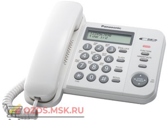 Panasonic KX-TS2356RUW проводной телефон, цвет белый: Проводной телефон