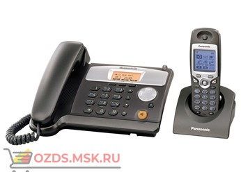 KX-TCD540RUM - Беспроводной телефон Panasonic DECT (радиотелефон) с автоответчиком, цвет серый мета