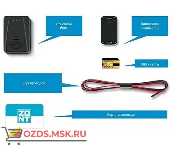 ZONT ZTC-200 Спутниковая охранно-поисковая система GPSГЛОНАСCGSM (трекер)