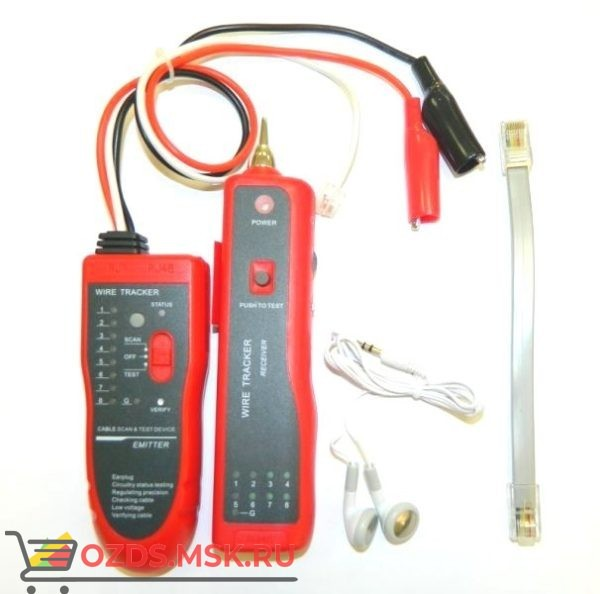 Универсальный кабельный тестер с генератором, индуктивным щупом и LAN тестером (NS 806R), Netko