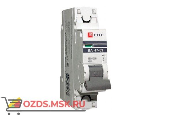 ЭКФ PROxima mcb4763-1-25B-pro Выкл.автомат. ВА 47-63 1P 25А (B) 4,5кА