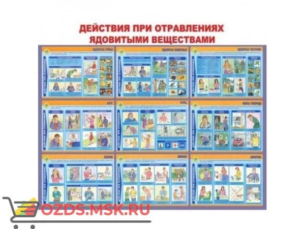 Действия населения при отравлениях ядовитыми веществами: Плакат по безопасности