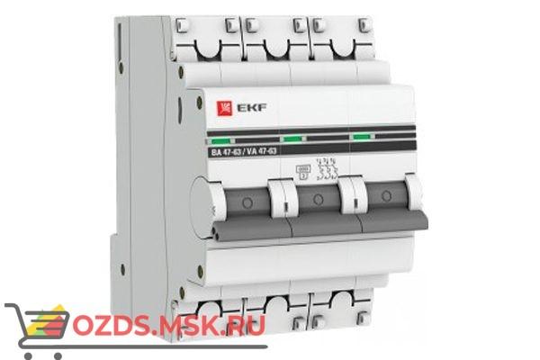 ЭКФ PROxima mcb4763-6-3-20D-pro Выкл.автомат. ВА 47-63 3P 20А (D) 6кА