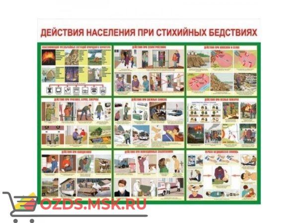 Действия населения при стихийных бедствиях: Плакат по безопасности