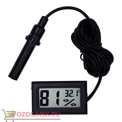 Электронный термометр-гигрометр C09Y38G1 с выносным датчиком, черный