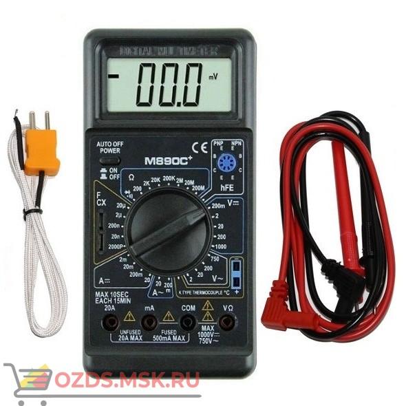 M890C+ измерения напряжения, тока, сопротивления, температура, емкость, прозвонк: Цифровой мультиметр