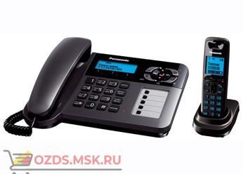 Panasonic KX-TG6461RUT-с автоответчиком, цвет темно-серы: Беспроводной телефон DECT (радиотелефон)