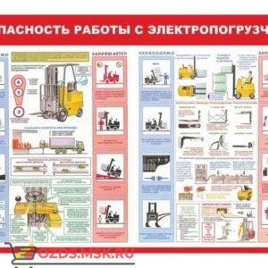 Безопасность работ с электропогрузчиком: Плакат по безопасности