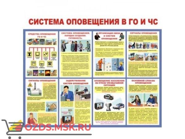 Система оповещения в ГО и ЧС: Плакат по безопасности