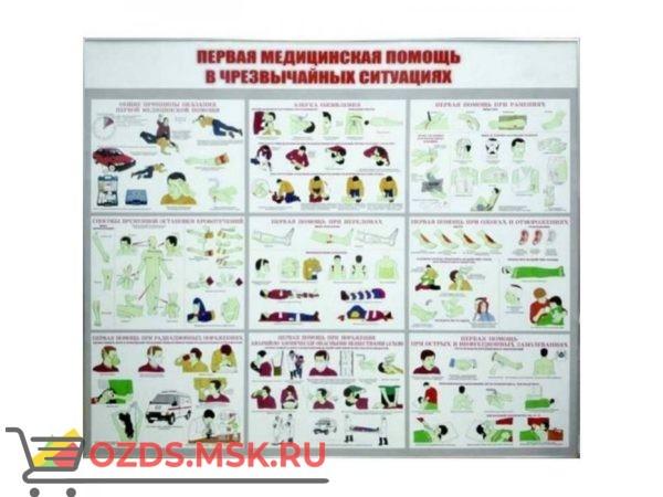 Первая медицинская помощь в чрезвычайных ситуациях: Плакат по безопасности